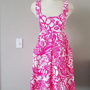 ANTHROPOLOGIE Pink/Rose Printed Babydoll Dress